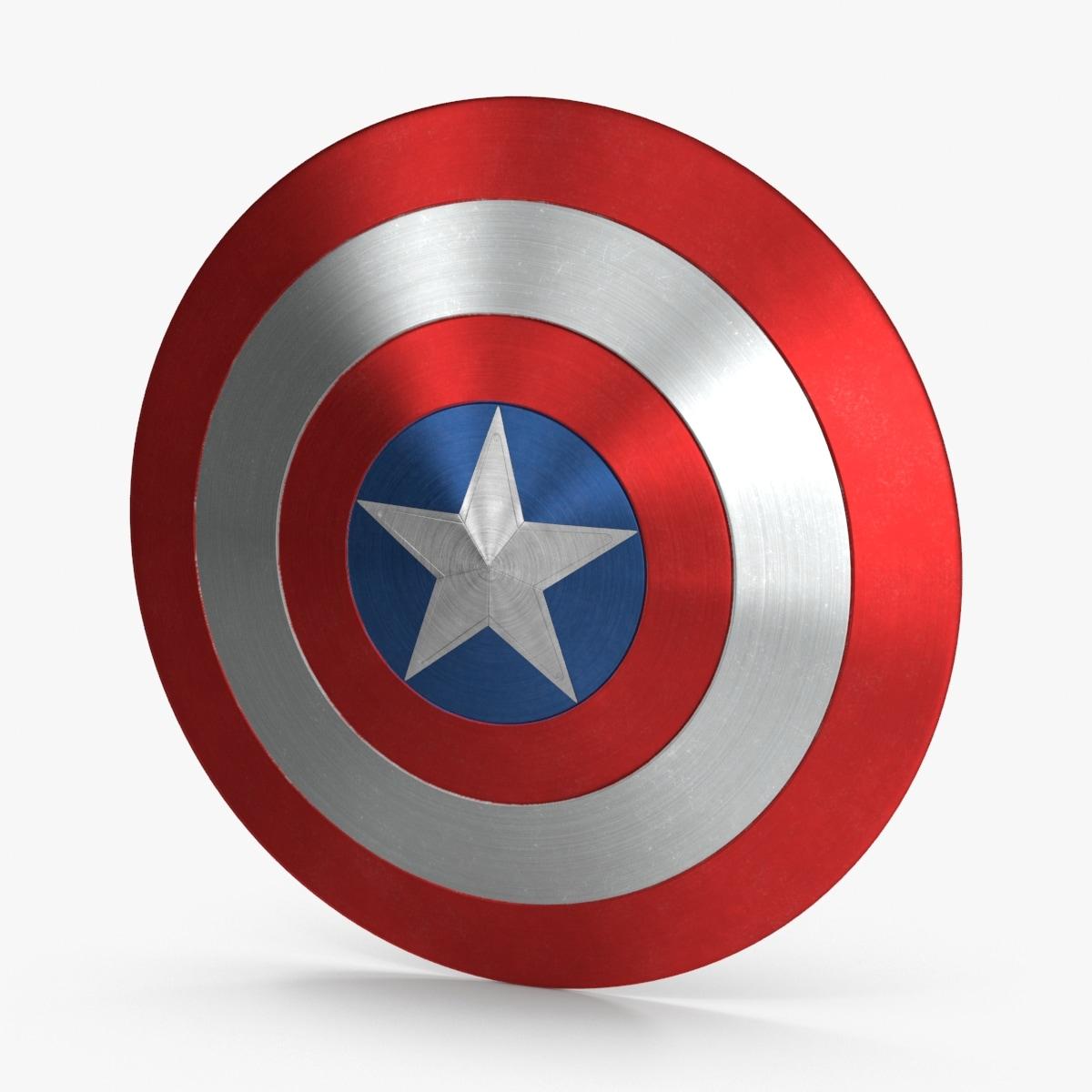 3d captain-america-shield model
