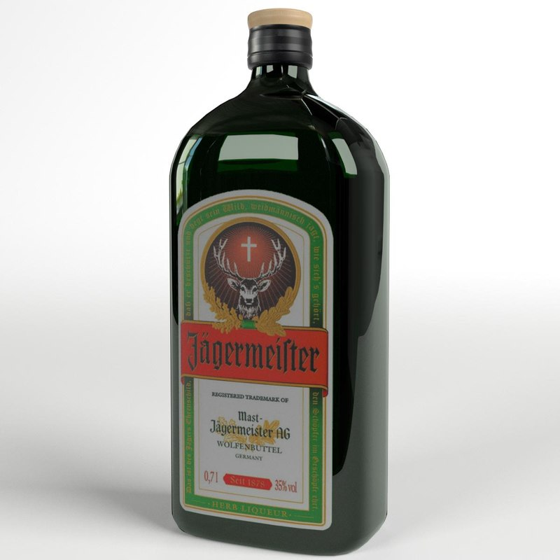 jagermeister liqueur bottle 3d model