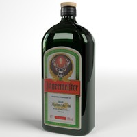 3d model jagermeister liqueur bottle
