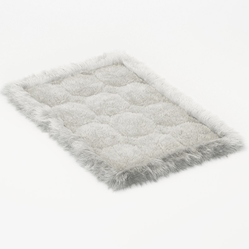 3d small soft carpet alpaca model