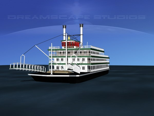 stern wheeler steam historical 3d 3ds