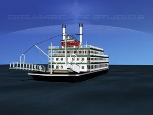 stern wheeler steam historical 3d 3ds