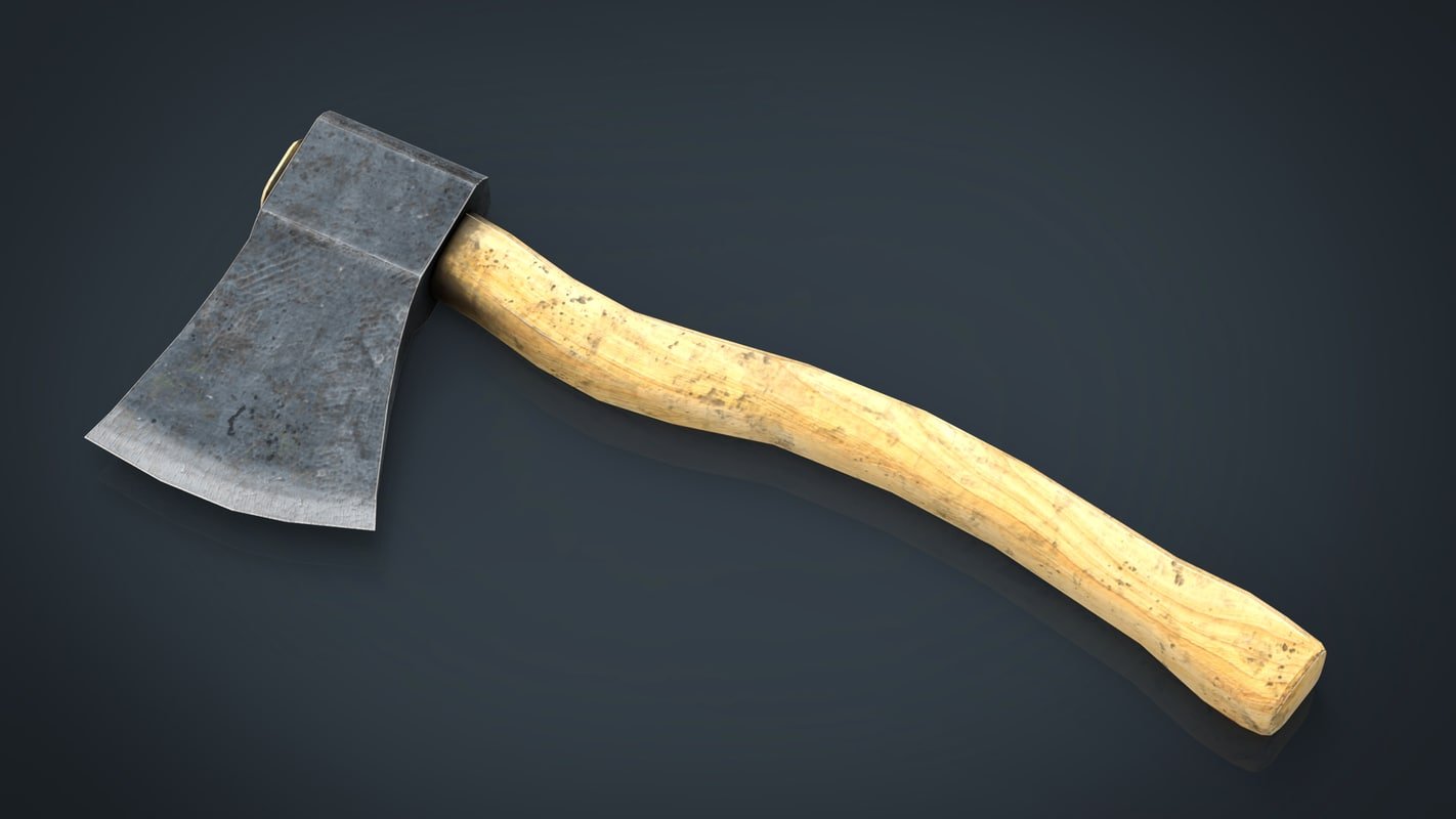 3d model axe blood