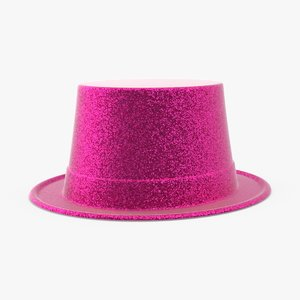 party hat 02 pink 3d model
