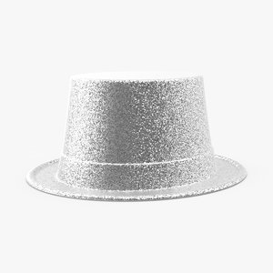 party hat 02 silver 3d model