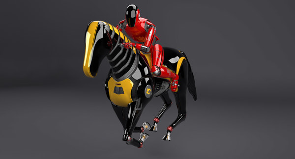 horse gallop robot rigged 3d model