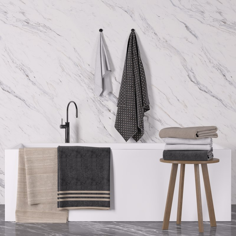 towel set 3d model
