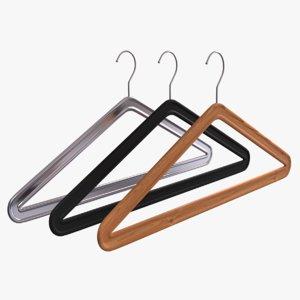 3d 3ds 3 clothes hanger