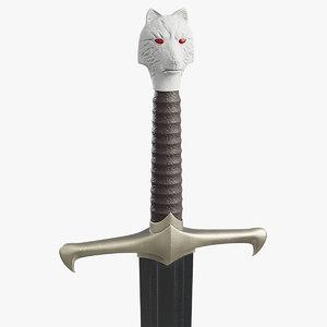 3d longclaw jon snow sword
