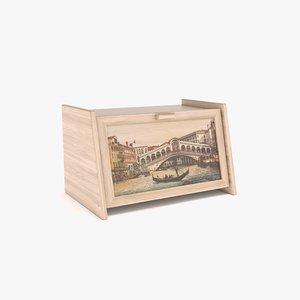 3d bread bin wood