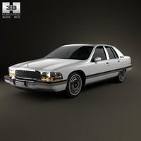 3d model sedan 1991 buick