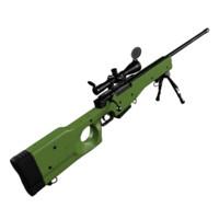 sniper rifle l96 3d max