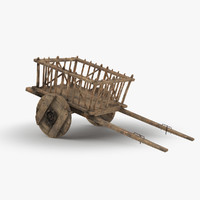 medieval wagon cart max free