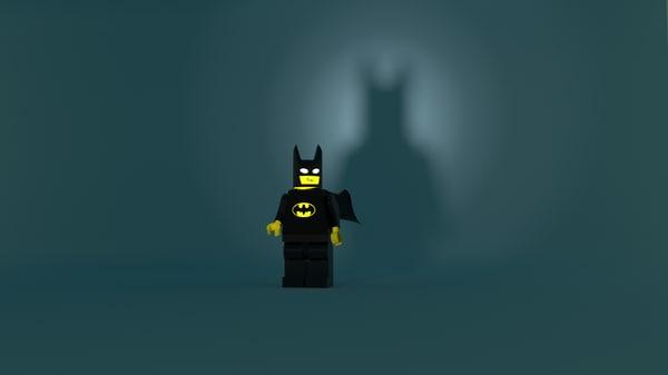 free character lego 3d model