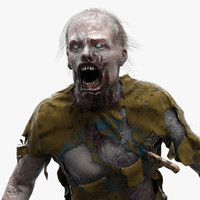 3d standard zombie character man