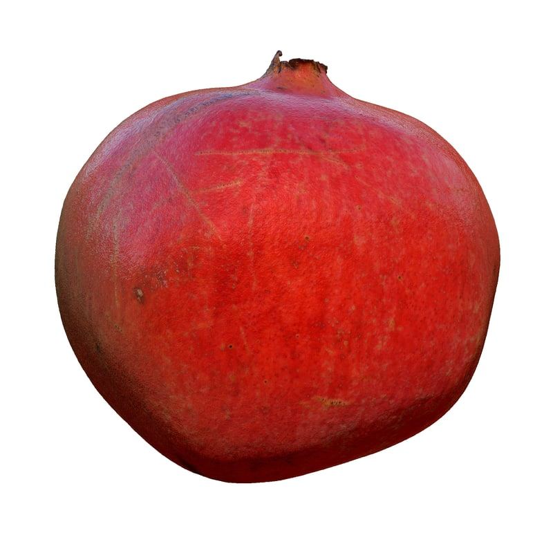 3d pomegranate cleaned retopologized scan model