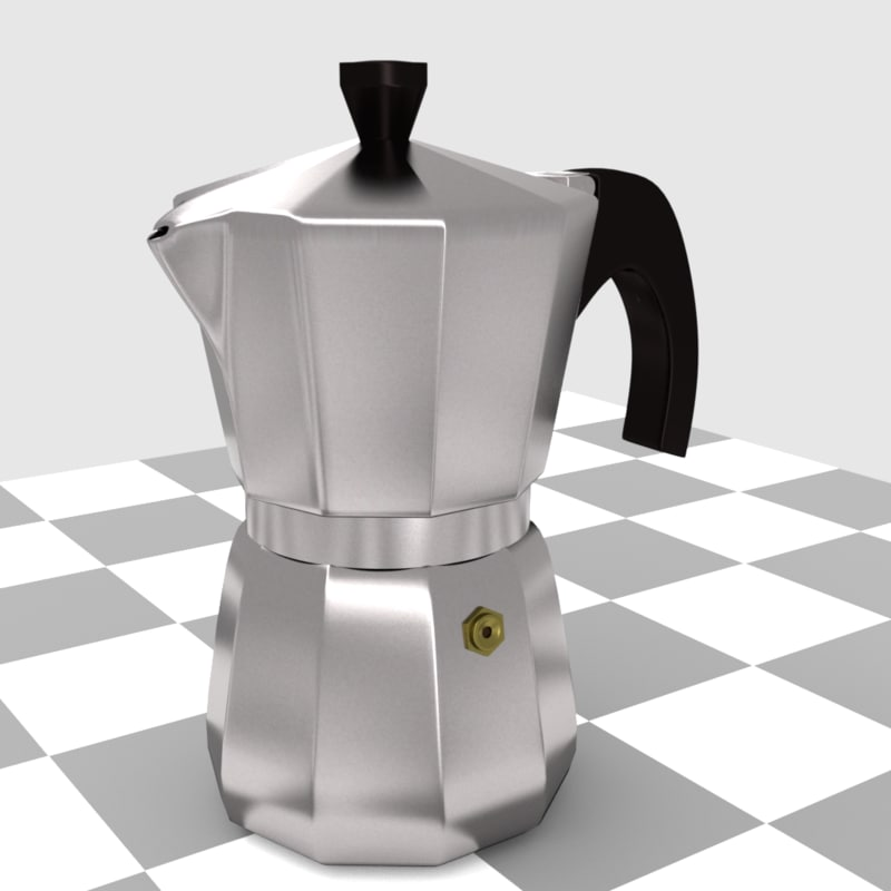 3d italian coffee pot