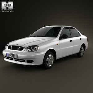 2012 daewoo lanos 3d model