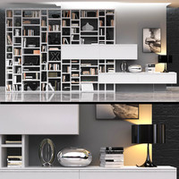 crossing bookcase 3d max