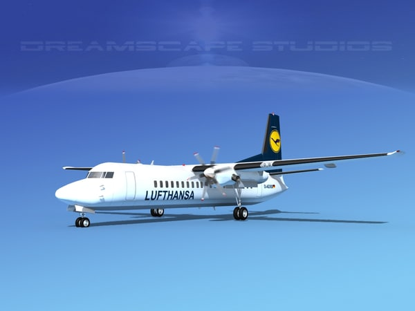 propellers fokker 50 3d 3ds