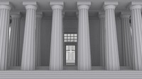 doric greek temple 3d model