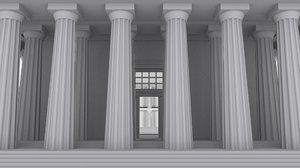 doric greek temple 3d model