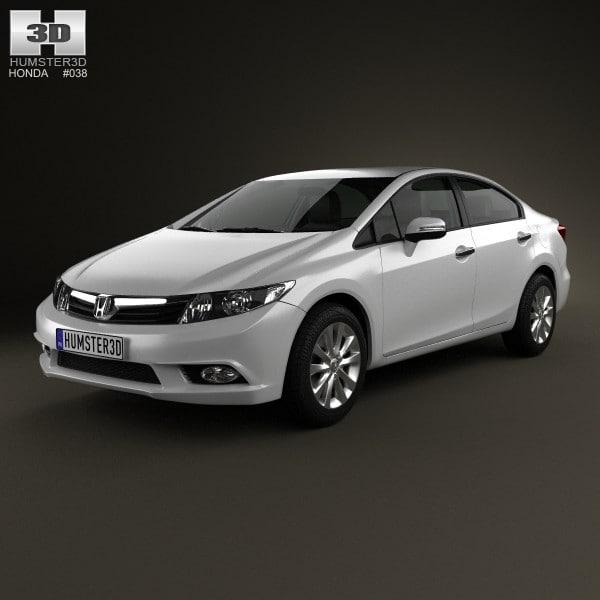 Civic Sedan Interior: 3d Model Sedan 2012 Civic