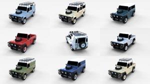 3d model pack land rover defender