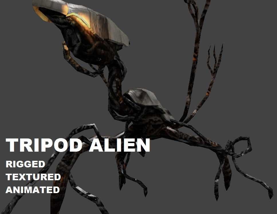3d alien unity animations