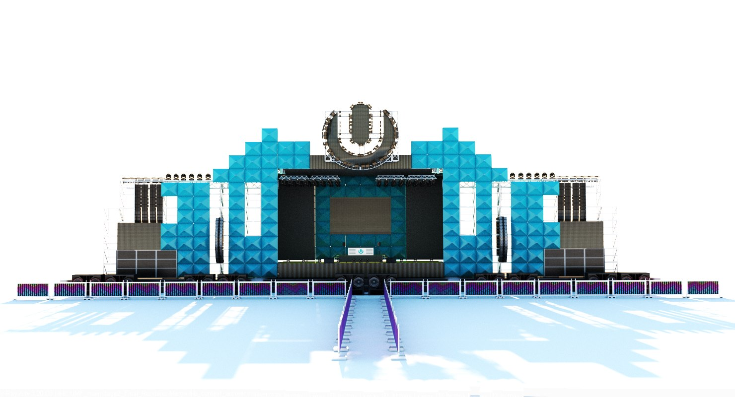 3d umf-ultra music festival main model