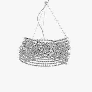 3d model diamante chandelier ceiling lamp