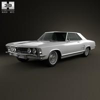3d 1963 buick riviera model