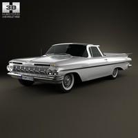 3d 1959 camino chevrolet model