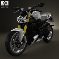 2012 848 ducati 3d model