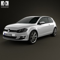 3d model 2013 3 door