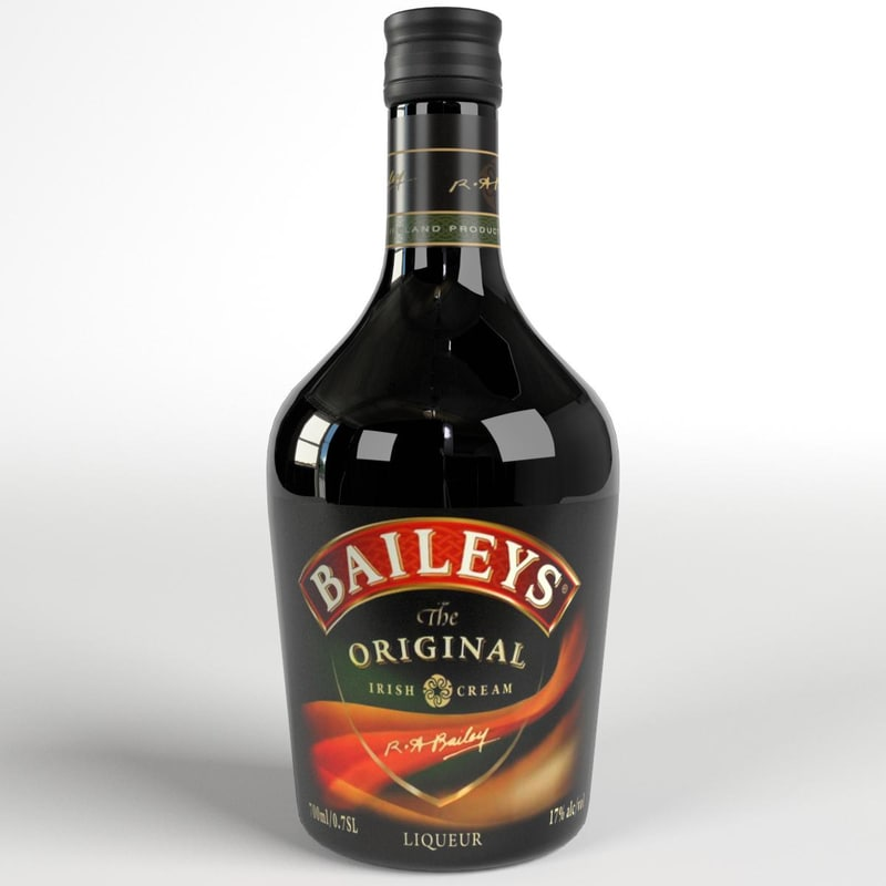 3d baileys irish cream whiskey bottle model
