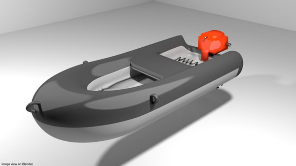 3d boat inflatable
