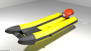 3d model boat inflatable