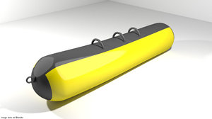 boat inflatable row 3d 3ds