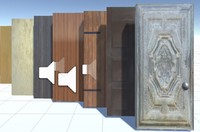 3d simple set doors