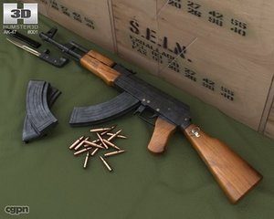 3d model 47 ak bayonet