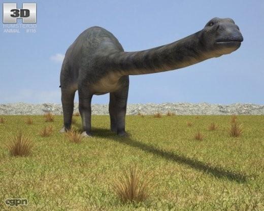 3d diplodocus longus
