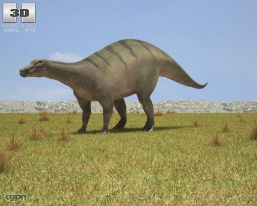 bernissartensis iguanodon 3d model