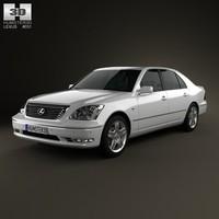 2003 lexus ls 3d model