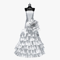 wedding dress 3d model
