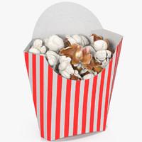 3d popcorn 6 model
