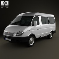 2012 gaz gazel 3d model