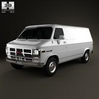 van 1992 gmc 3d model