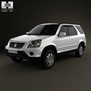2002 cr v 3d model