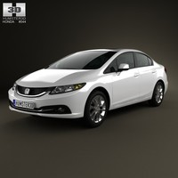 3d model of sedan 2013 civic